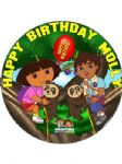 7.5 Personalised Dora & Diego Icing or Wafer Cake Top Topper